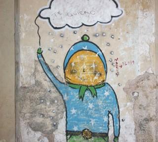 ハバナ、壁に書かれたイラスト