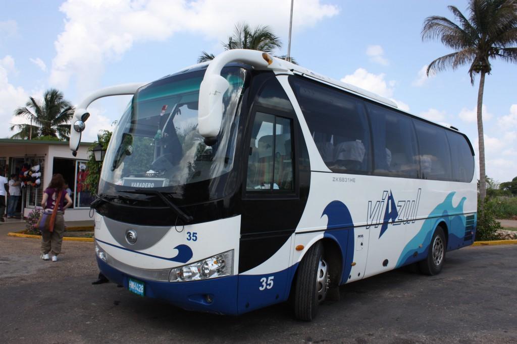 中国製の観光バス