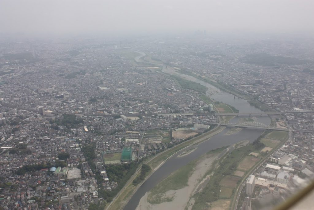 多摩川(登戸周辺)世田谷通りと小田急線
