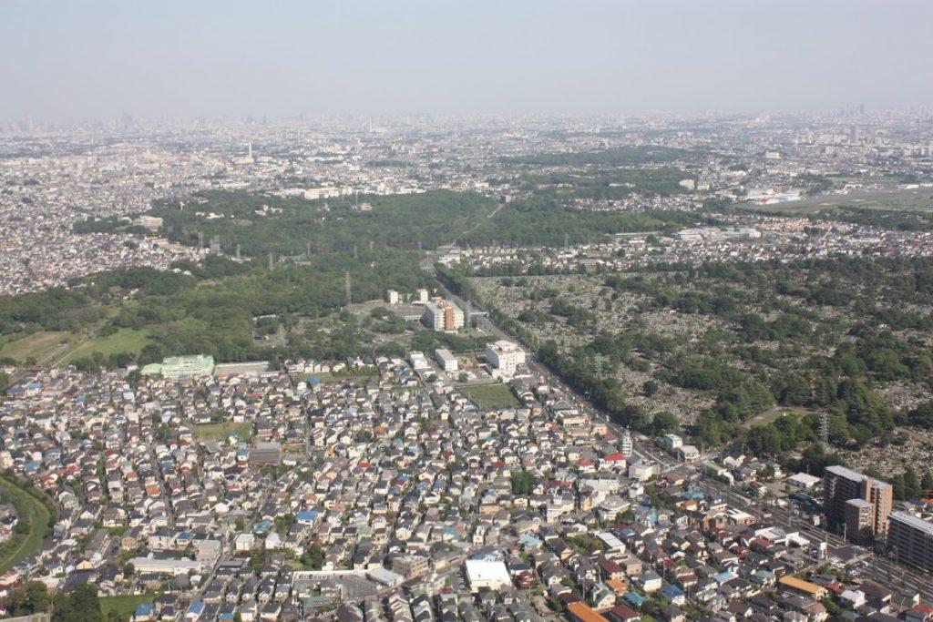 野川公園、東八道路、多磨霊園