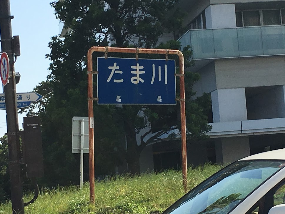 多摩堤通りの標識