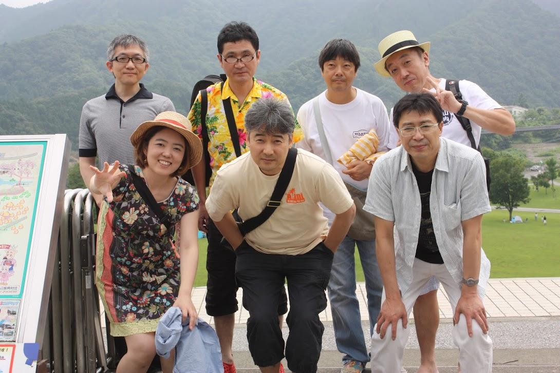 宮ヶ瀬湖にて集合写真